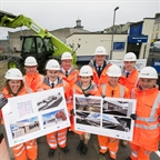 portrush train station sod cut