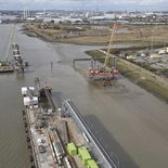 Upstream and Downstream Berths, and linkspan bankseat under construction